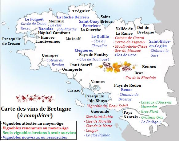 carte des vins de bretagne